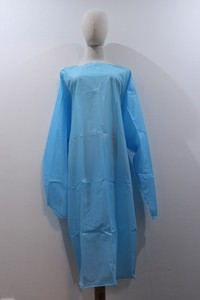 Long Sleeve Plastic Robe Apron