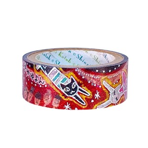 Washi Tape Circus Glitter Washi Tape Foil Stamping Made in Japan