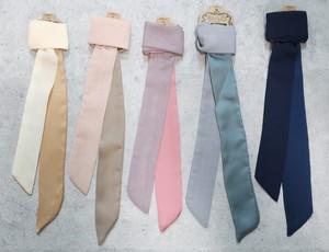 スカーフ シフォン・サテンツートン ロングタイプ(120cm)