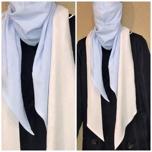 【日本製・綿100%】スカーフマスク 色:スカイライトブルー33×150cmタイプ