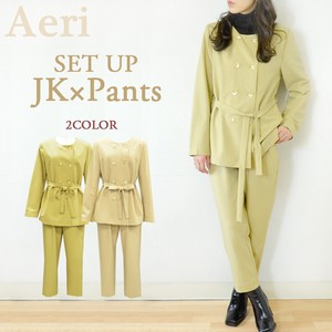[2021 New Product] Safari Look Suit Set Jacket Tapered Pants