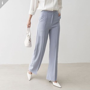 pin Tuck Pants Slim Long Pants
