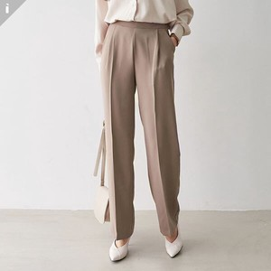 pin Tuck Pants Slim Office Look Long Pants