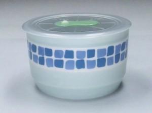 モザイク 高気密レンジパックS1P ブルー【身:日本製 美濃焼】【蓋 中国製】陶器 磁器 モザイク