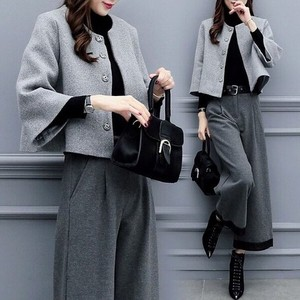 Coat Pants A/W Outerwear Long Pants 2 Pcs Set A3