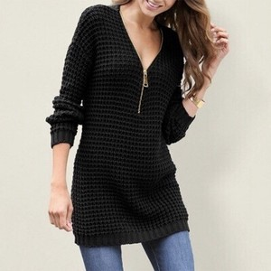 20 Model V-neck Sweater One-piece Dress