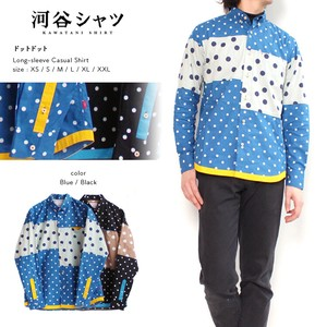 Shirt Dot Dot Casual Long Sleeve Shirt