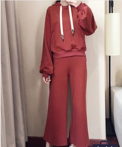 Ladies With Hood Top Pants 2 Pcs Set