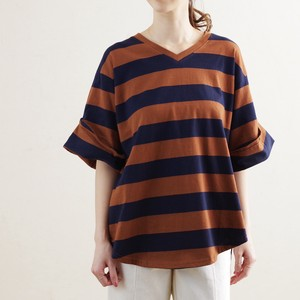 Cotton Border Roll Sleeve Pullover mitis Room