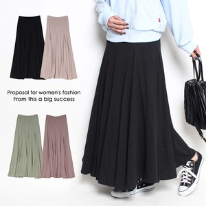 Panel Switching Flare Skirt