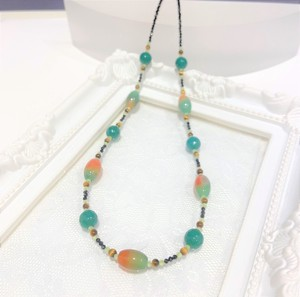 Multi-Color Natural stone Necklace Natural stone Stainless