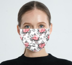 S/S Floral Pattern For adults Non-woven Cloth Blow Closs disposable Mask