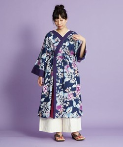 [2021 New Product] Hydrangea Yukata One-piece Dress