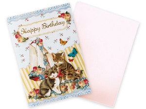 Antique Cat Card Cat