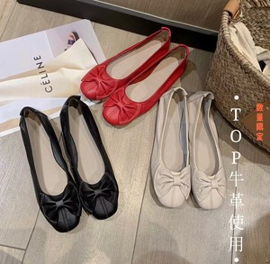 Fast Cow Leather Use Pumps Genuine Leather Cow Leather Ribbon Casual Outing