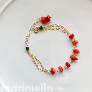 Natural stone Italy Natural Coral Bracelet