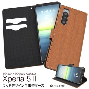 Smartphone Case Xperia SO SO SO Wood Design Notebook Type Case