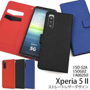 Smartphone Case Xperia SO SO SO Straight Leather Design Notebook Type Case