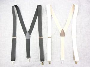 日本製・高品質 30mm 本革 ゴム使用 サスペンダー