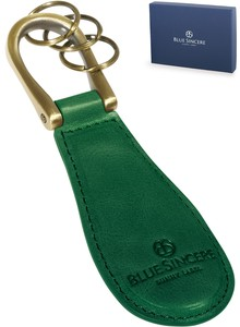 Shoehorn Genuine Leather Italian Leather Portable Key Ring Carry Key Ring Attached Leather