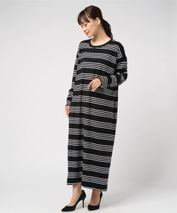 Arja Dress/Black Dell Stripe ロングワンピース