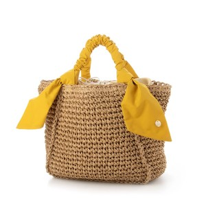 Gather Handle Falling Ribbon Square Bag