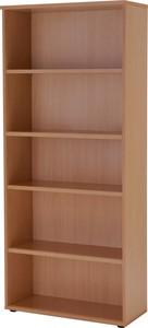 【送料無料】イタリア製 木製 書庫 本棚 5段 可動式棚板 A4 チェリー 低ホルム FSC認証