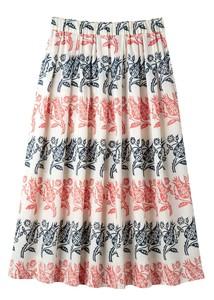 【2021年春夏新作】【フェアトレード】V&A コットンサテンブロックプリントスカート