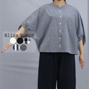 [2021 New Product] Cotton Plain-woven Volume Sleeve Wide Shirt