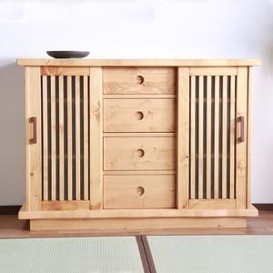 収納棚 和モダン 木製 デスク 書斎 キャビネット フォレスト