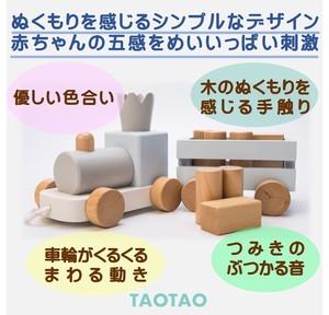 TAOTAO 積み木 のせて・ひっぱって・たのしい クラウントレイン<積み木・おもちゃ>