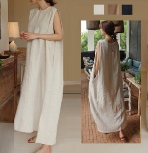 Long One-piece One-piece Dress Maxi One-piece Line Long Sleeve Body Type Cover