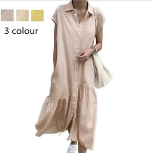 Shirt Long One-piece One-piece Dress Maxi One-piece Long Sleeve Body Type Cover