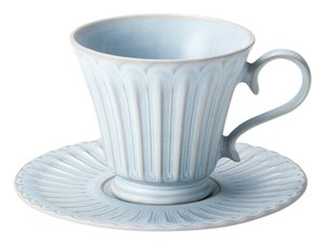 Mino Ware Blue Coffee Cup Saucer Plates Made in Japan