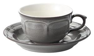 [美濃焼] ラフィネ ストームグレー ティーカップ&ソーサー [食器 日本製]