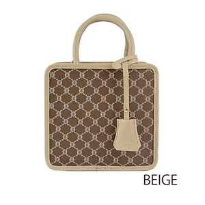 Repeating Pattern Square Overnight Bag Set Ladies Bag