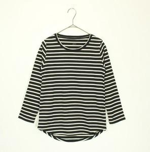 ロングスリーブTシャツ ブラック×ホワイト