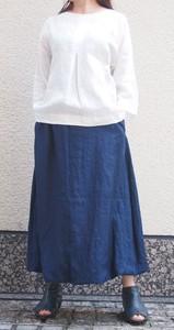 バルーンスカート 藍染 麻 日本製