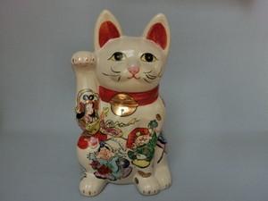 花器 花瓶 置物 インテリア 和陶器 和モダン /招き猫(白・七福神)大
