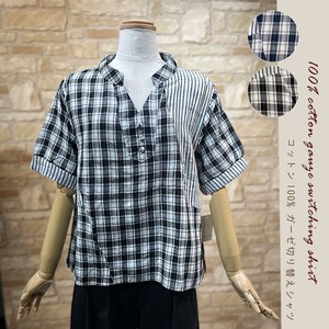 20 Cotton 100 Gauze Switch Shirt