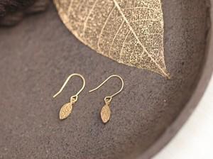 【18金】K18木の葉のプチピアス