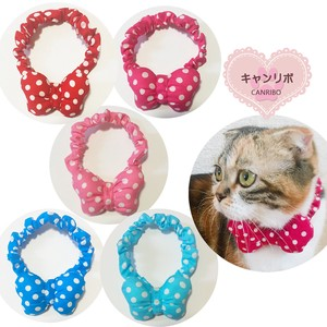 Scrunchy Collar Ribbon Dot