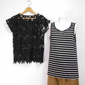 For Summer Ensemble Lace Pullover Tank Top 2 Pcs Set