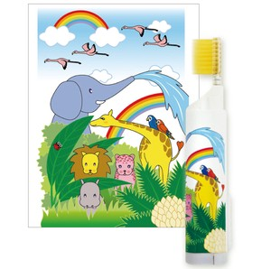 Portable Toothbrush Toothbrush Toothpaste 1 Pc Carry Animal