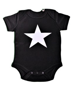 Band Sketch Organic Cotton 100 Reflector Print Baby Suits