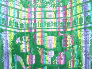 Half Blanket Towel Orchestra Green