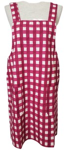 Made in Japan Apron Grid Pattern Cotton Natural Material Made in Japan Scandinavia Present