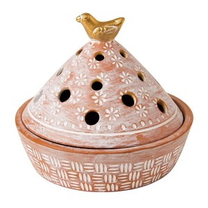 Small Birds Mosquito Coil Stand Mosquito repellent Incense Stick Holder Terracotta