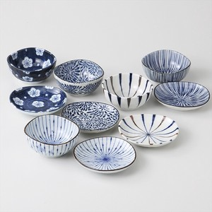 Gift Indigo-Dyed Mini Dish Mini Dish Collection Plates Mino Ware Made in Japan