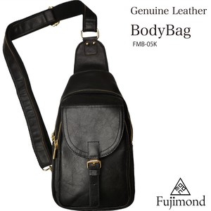 Fuji Genuine Leather Body Bag Village Black